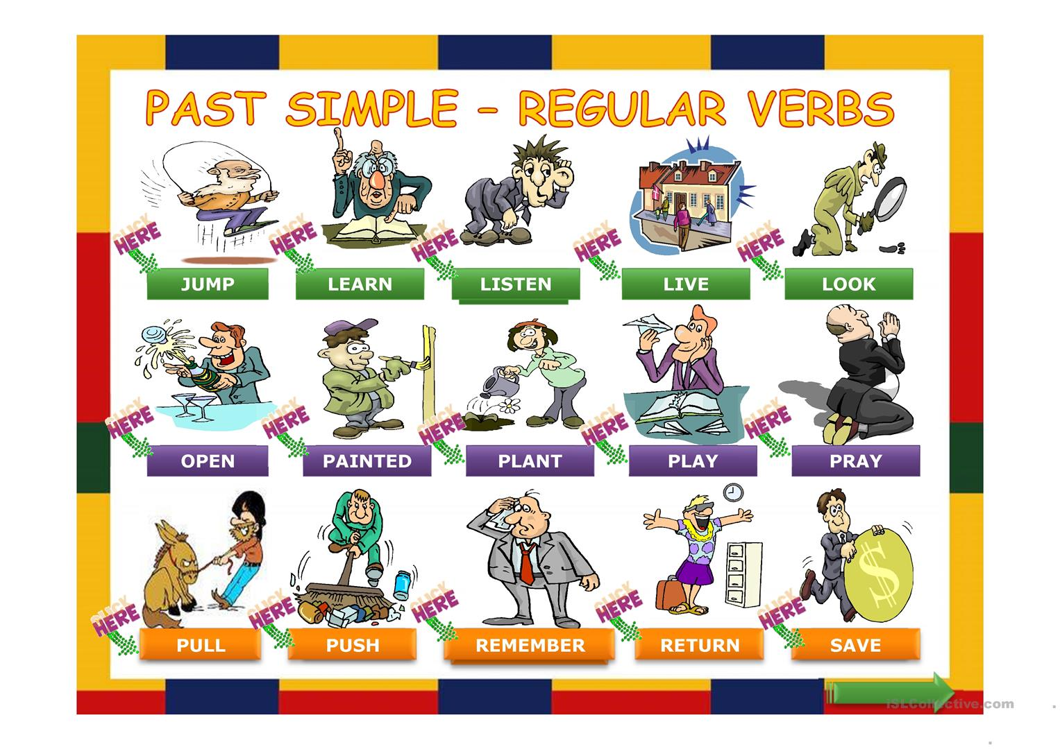 Simple Past Regular Verbs Made Easy Worksheet