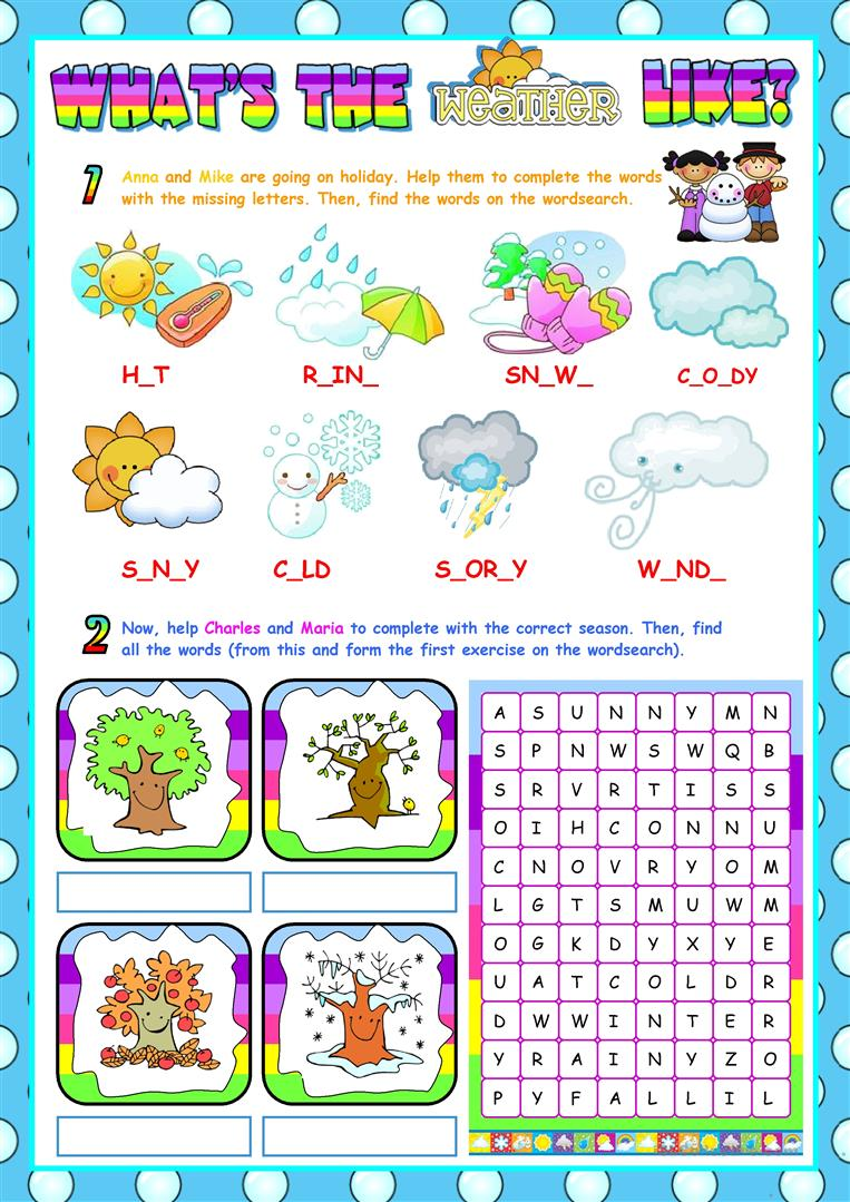 medium resolution of English ESL Weather worksheets - Most downloaded (563 Results)