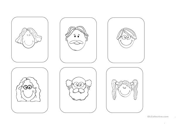 My family listening activity (young learners) worksheet