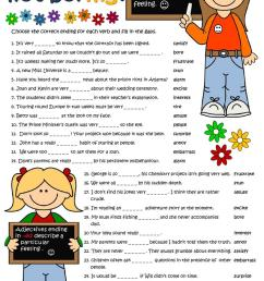 Adjectives with -ed and -ing - English ESL Worksheets for distance learning  and physical classrooms [ 1079 x 763 Pixel ]