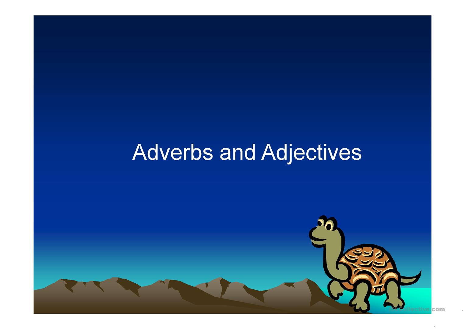 Adverbs Or Adjectives Worksheet