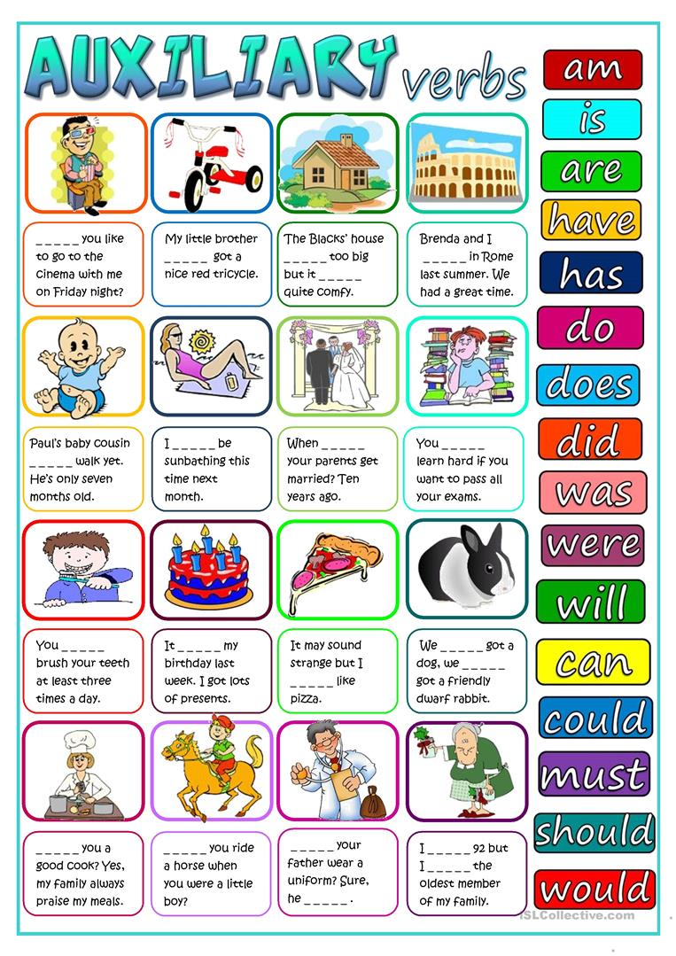 hight resolution of English ESL auxiliary verbs worksheets - Most downloaded (35 Results)