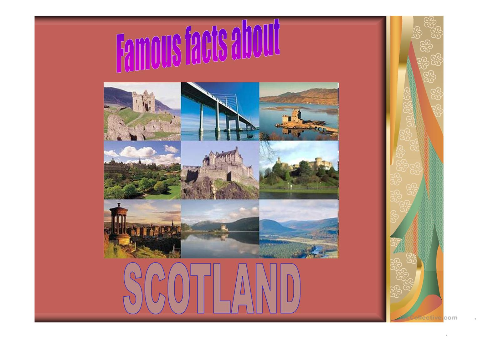 Famous People Amp Facts About Scotland Worksheet