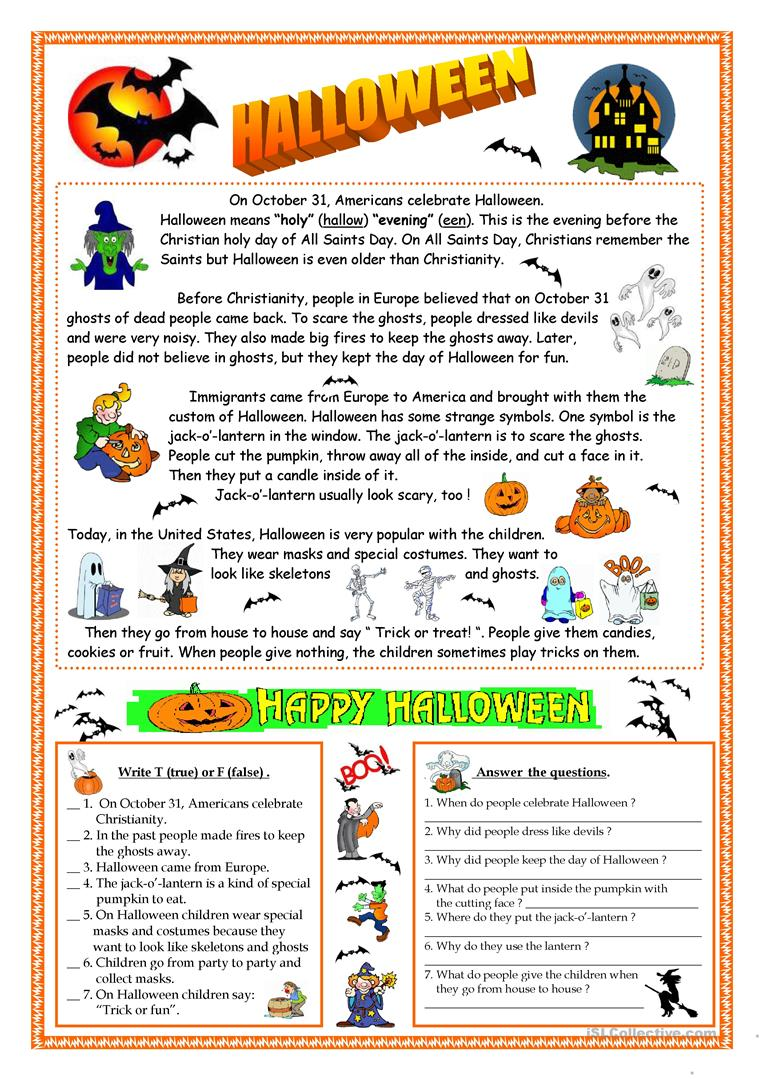 hight resolution of English ESL Halloween worksheets - Most downloaded (639 Results)