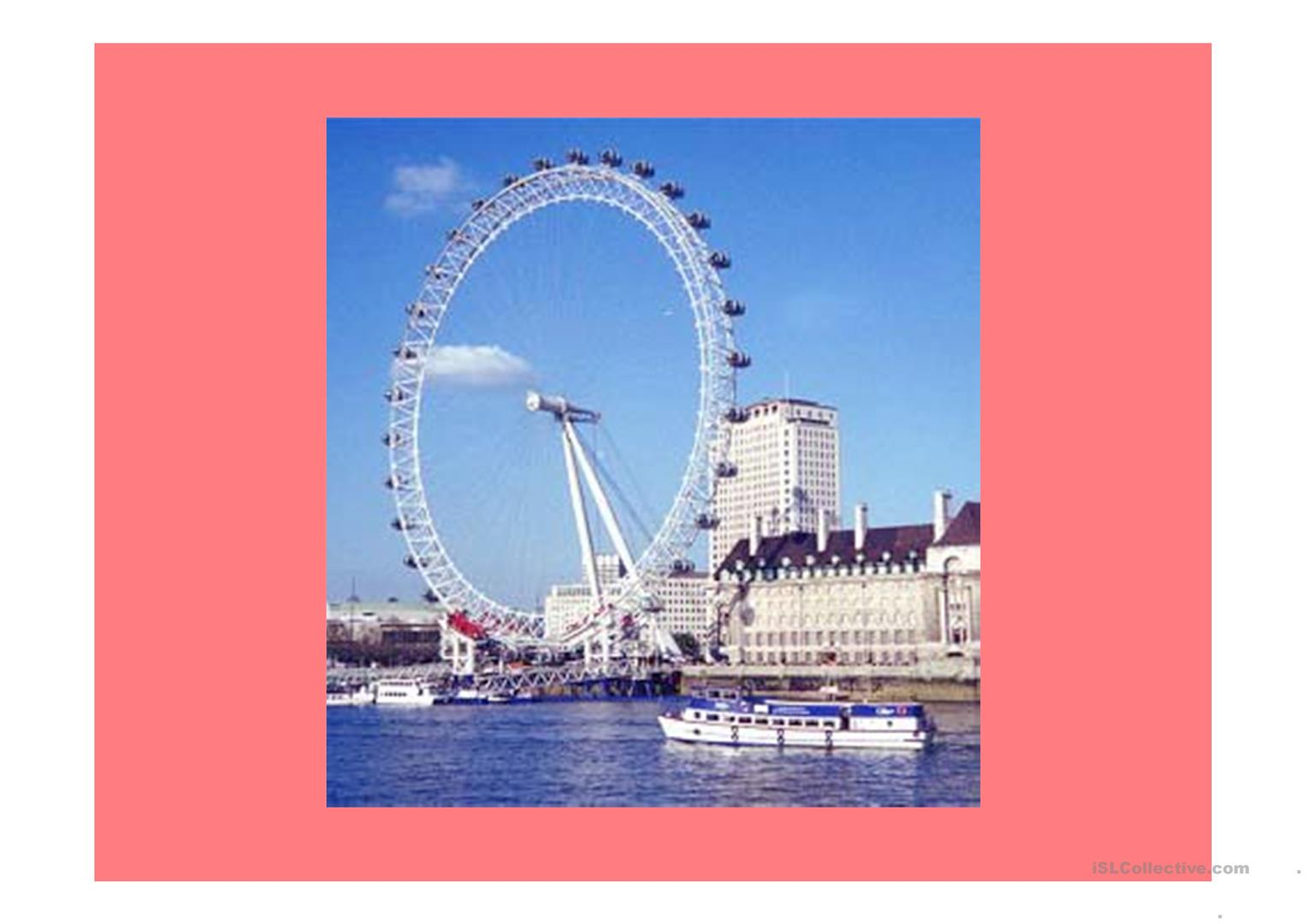 London Landmarks Worksheet