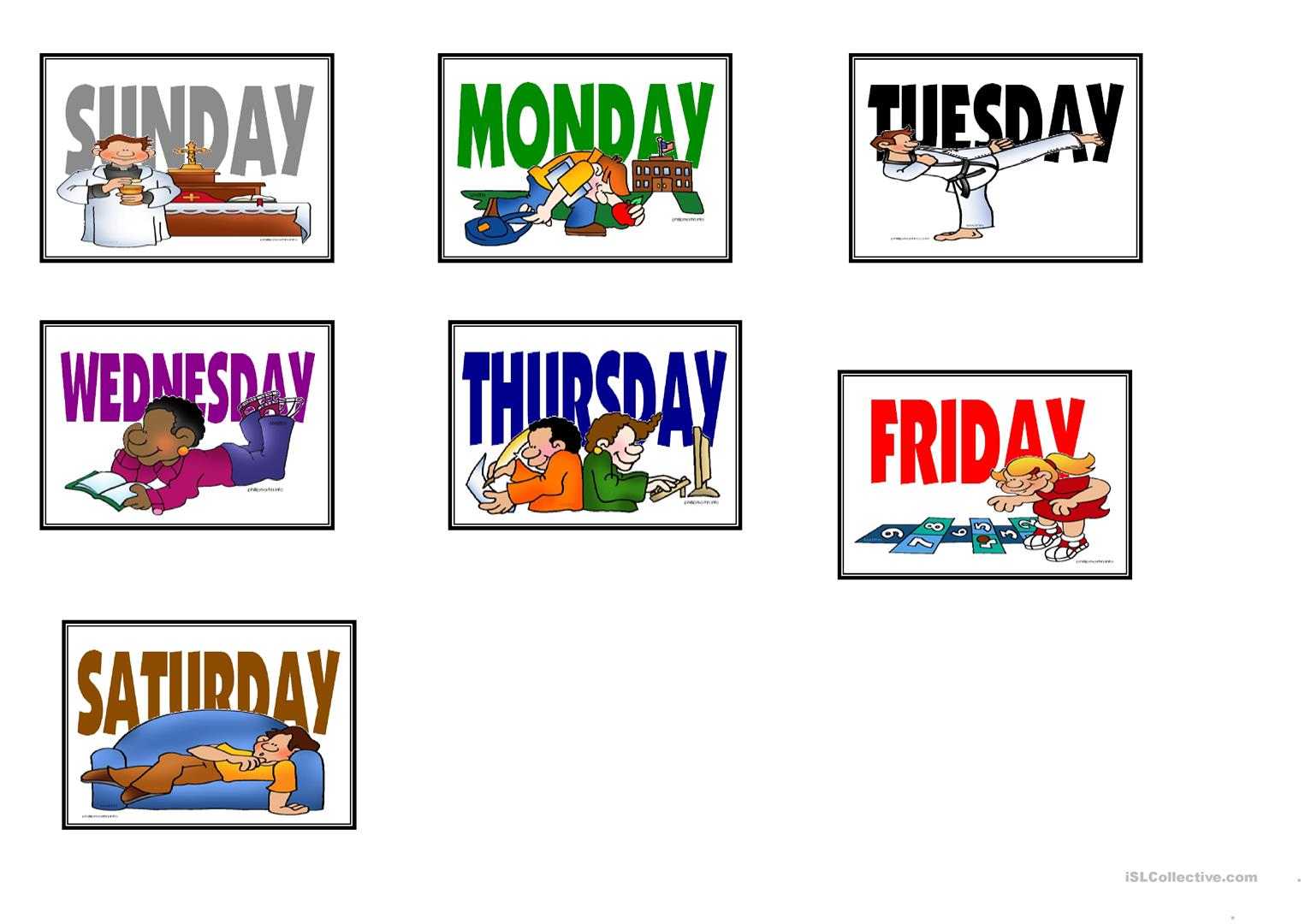 Speaking Matching Months And Days Game Cards Fully Editable Worksheet