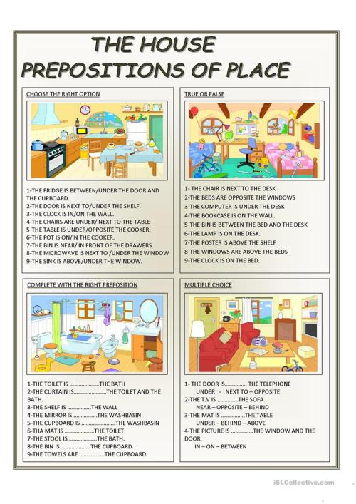 small resolution of English ESL Prepositions of place worksheets - Most downloaded (617 Results)