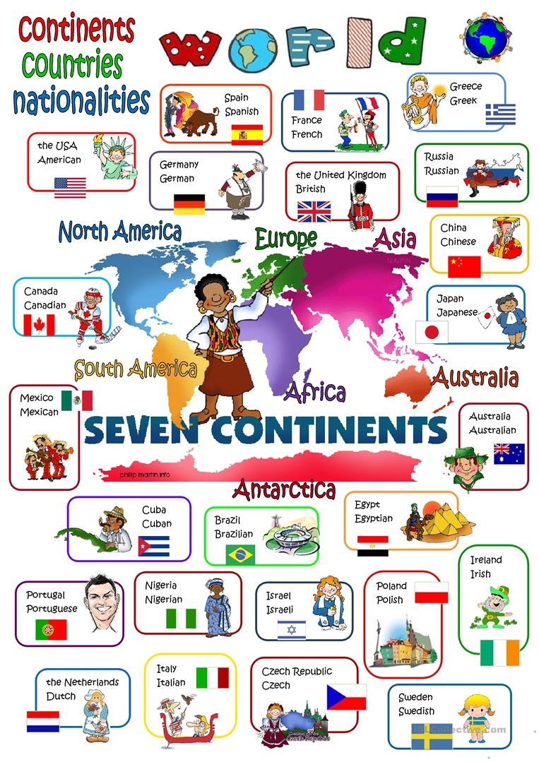 hight resolution of English ESL continents worksheets - Most downloaded (24 Results)