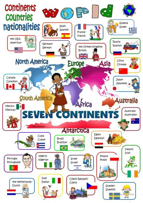 small resolution of English ESL continents worksheets - Most downloaded (24 Results)