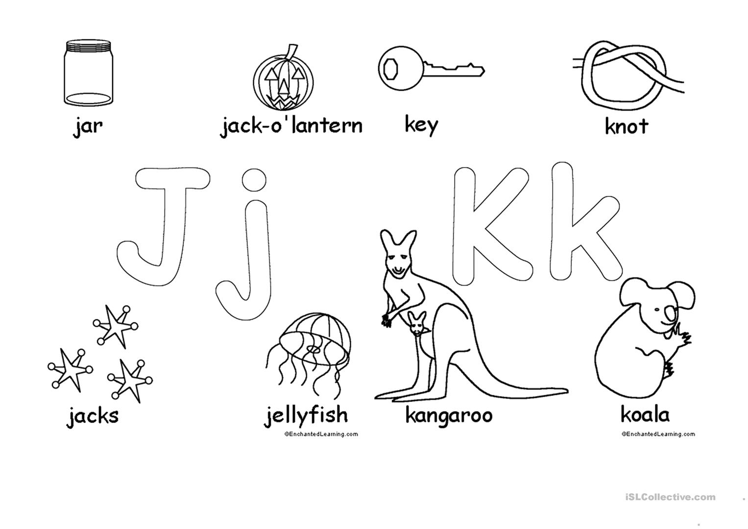 Alphabet For Coloring Worksheet