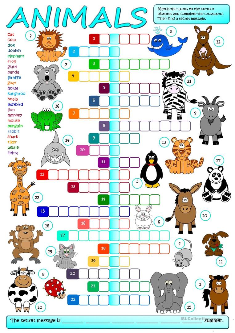 hight resolution of English ESL Animals worksheets - Most downloaded (2631 Results)