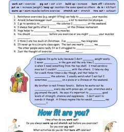 Fitness Phrasal Verbs - English ESL Worksheets for distance learning and  physical classrooms [ 1079 x 763 Pixel ]