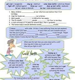 Health Phrasal Verbs - English ESL Worksheets for distance learning and  physical classrooms [ 1079 x 763 Pixel ]
