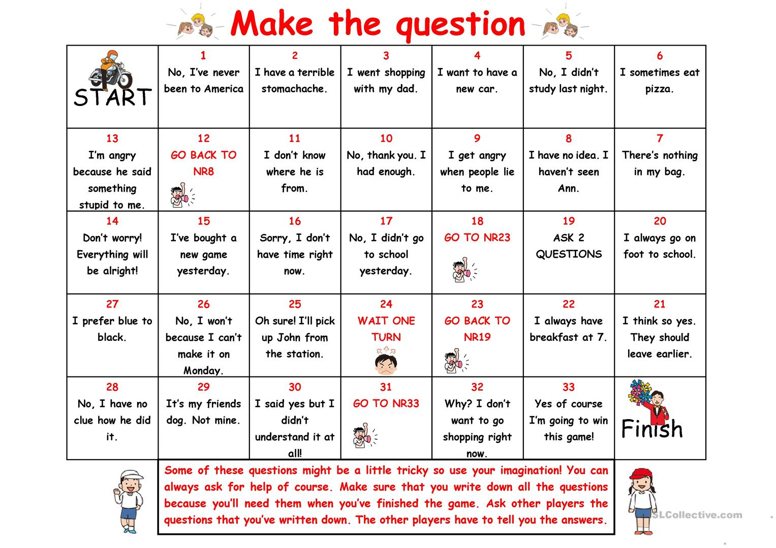 Make The Question Boardgame