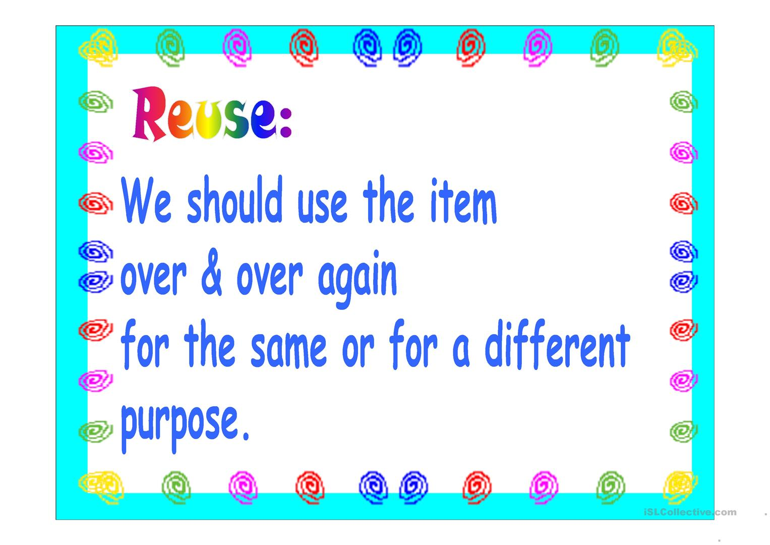 The 4 R S Worksheet