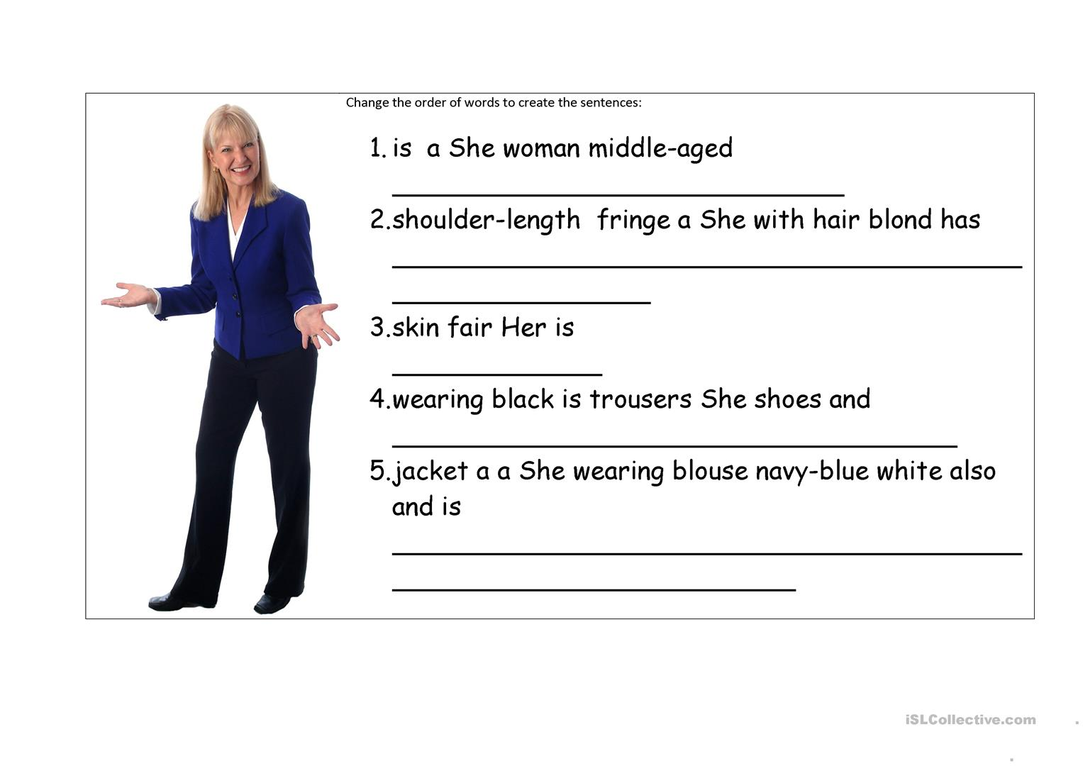 Esl Worksheet Would Like