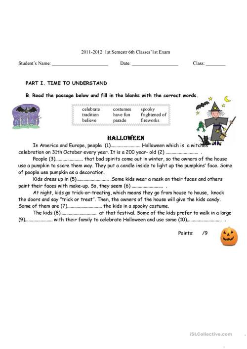 small resolution of 6th grades exam - English ESL Worksheets for distance learning and physical  classrooms