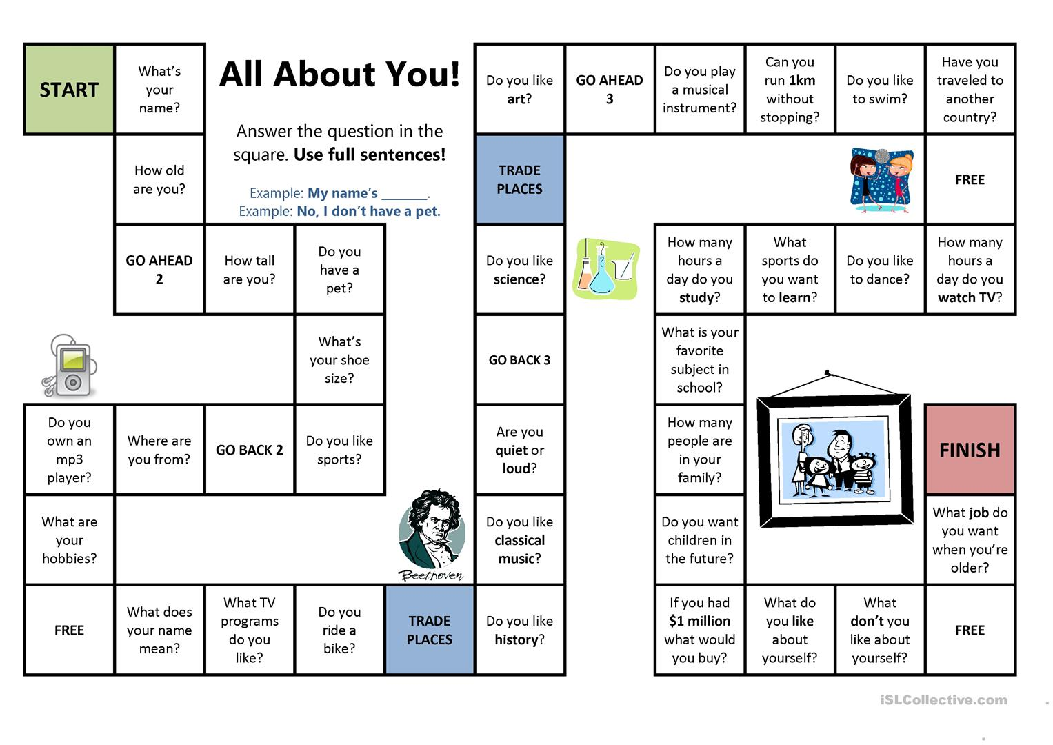 All About You Board Game
