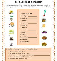 Food Idioms of Comparison - English ESL Worksheets for distance learning  and physical classrooms [ 1079 x 763 Pixel ]