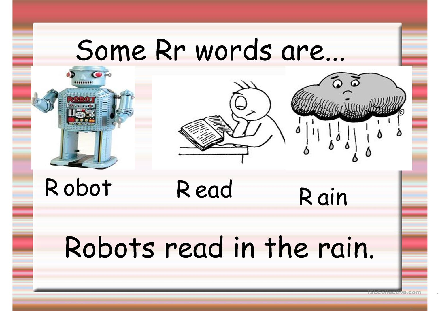 Phonics R And L Worksheet