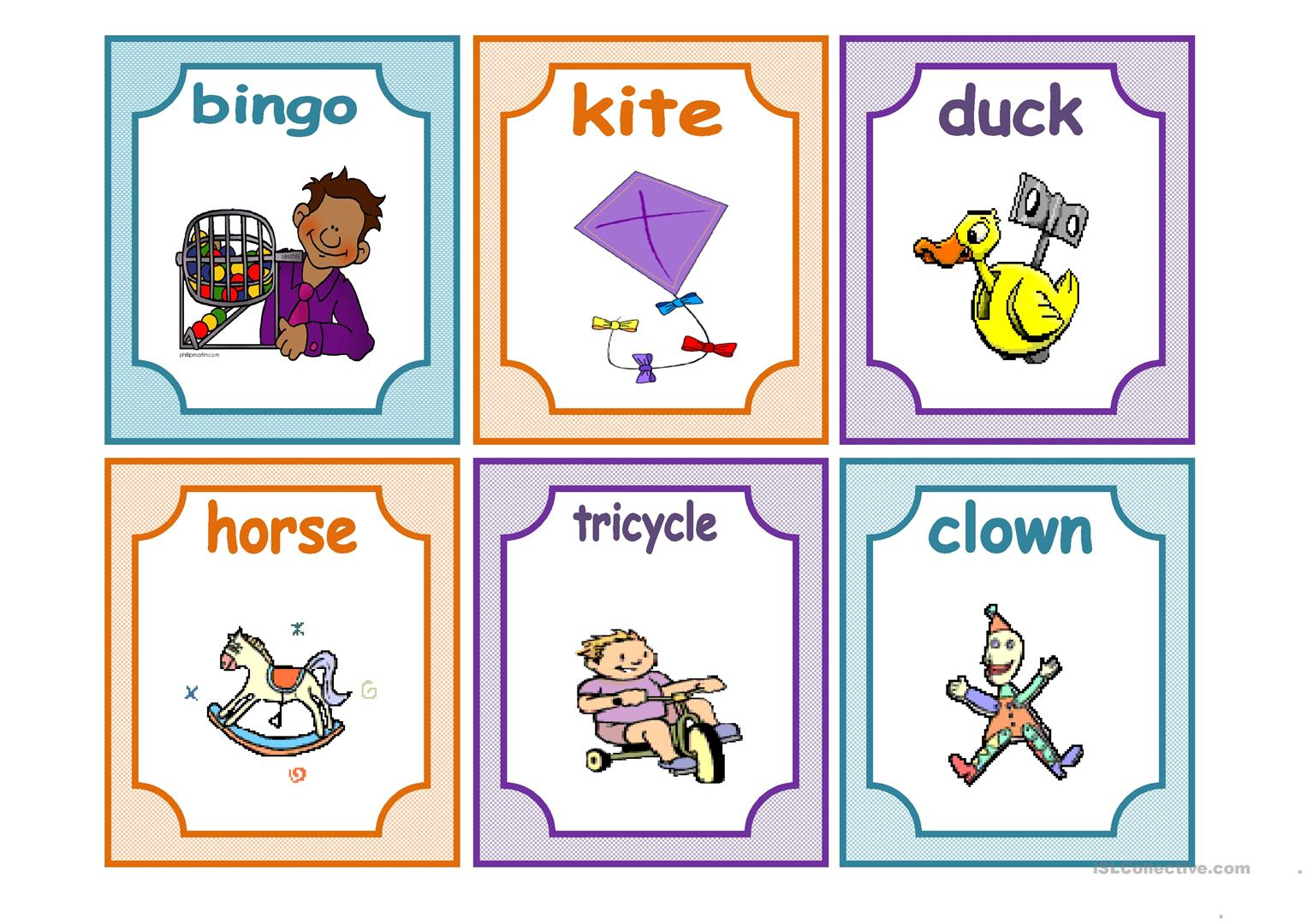 Toys Flashcards Worksheet