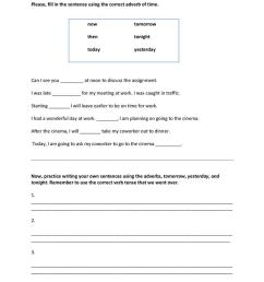 Adverbs of Time - English ESL Worksheets for distance learning and physical  classrooms [ 1079 x 763 Pixel ]
