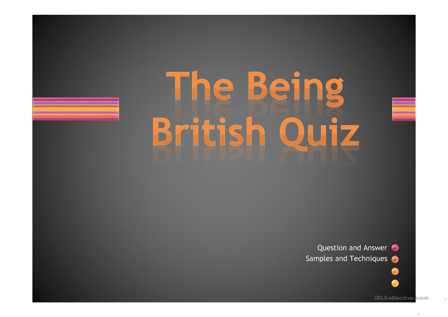 Being British Quiz Worksheet