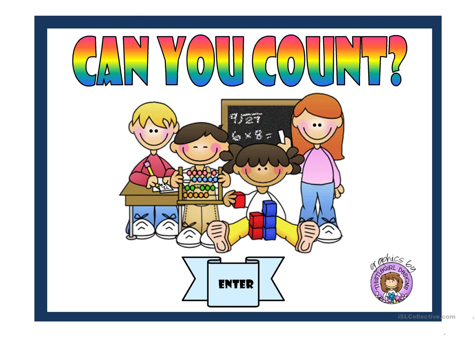 Can You Count Worksheet