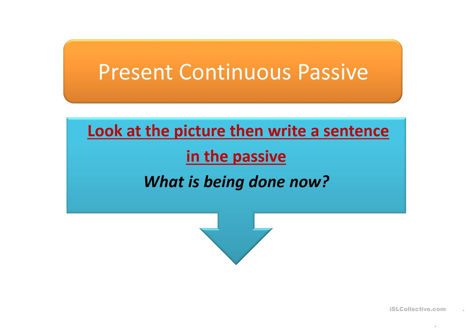 Passive Animated Picture Worksheet