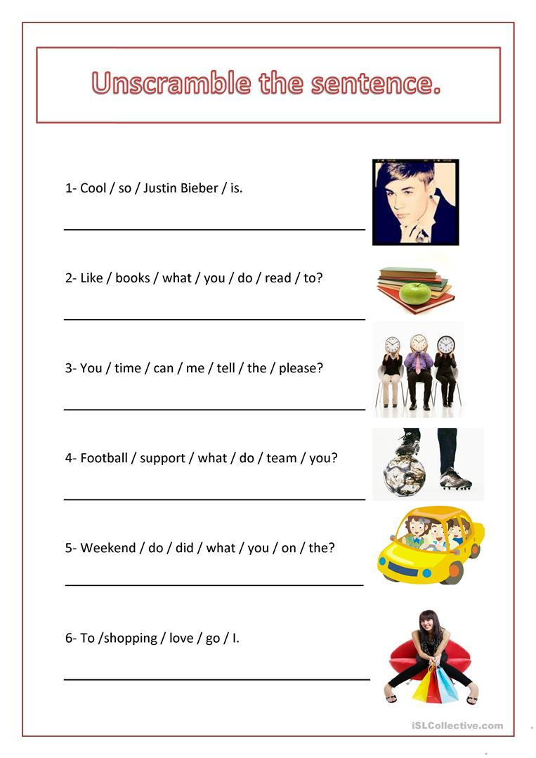 hight resolution of English ESL unscramble worksheets - Most downloaded (54 Results)