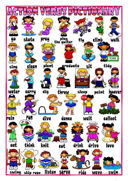 small resolution of English ESL action verbs worksheets - Most downloaded (228 Results)