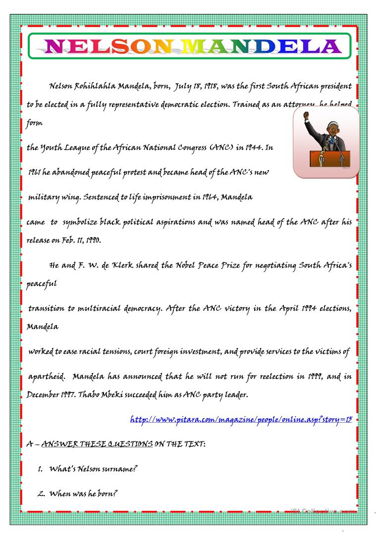 hight resolution of English ESL biography worksheets - Most downloaded (123 Results)