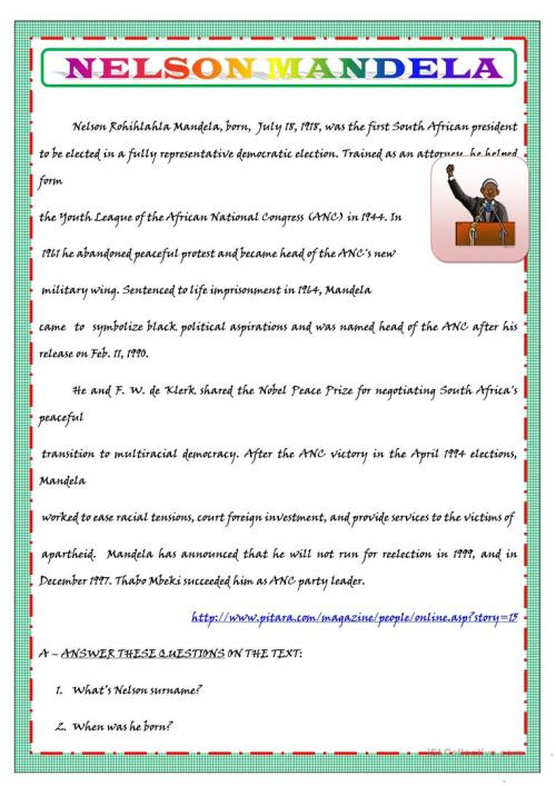 small resolution of English ESL biography worksheets - Most downloaded (123 Results)