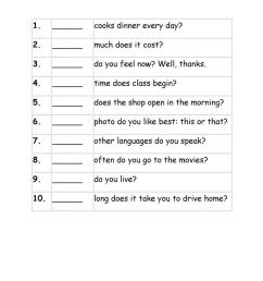 Exercises Wh question words - English ESL Worksheets for distance learning  and physical classrooms [ 1079 x 763 Pixel ]