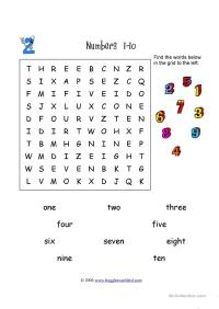 number wordsearch worksheet - Free ESL printable ...