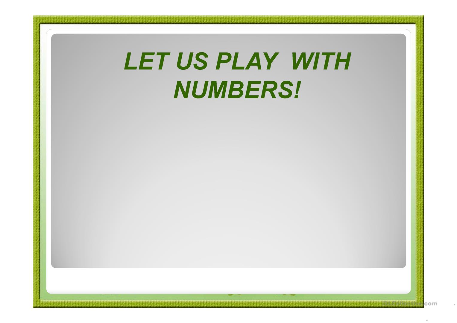 Numbers Practice For Elementary Worksheet
