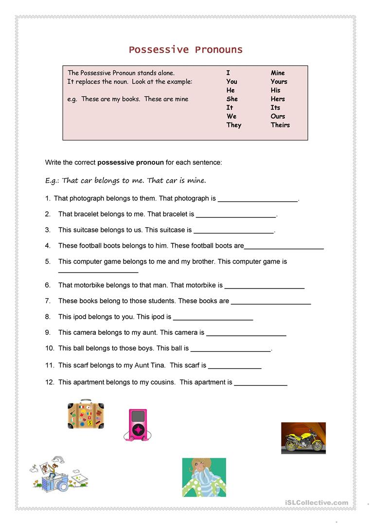 hight resolution of English ESL possessives worksheets - Most downloaded (100 Results)