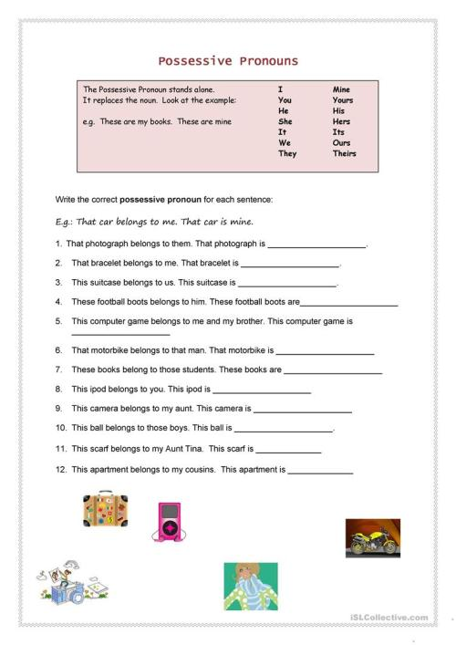 small resolution of English ESL possessives worksheets - Most downloaded (100 Results)