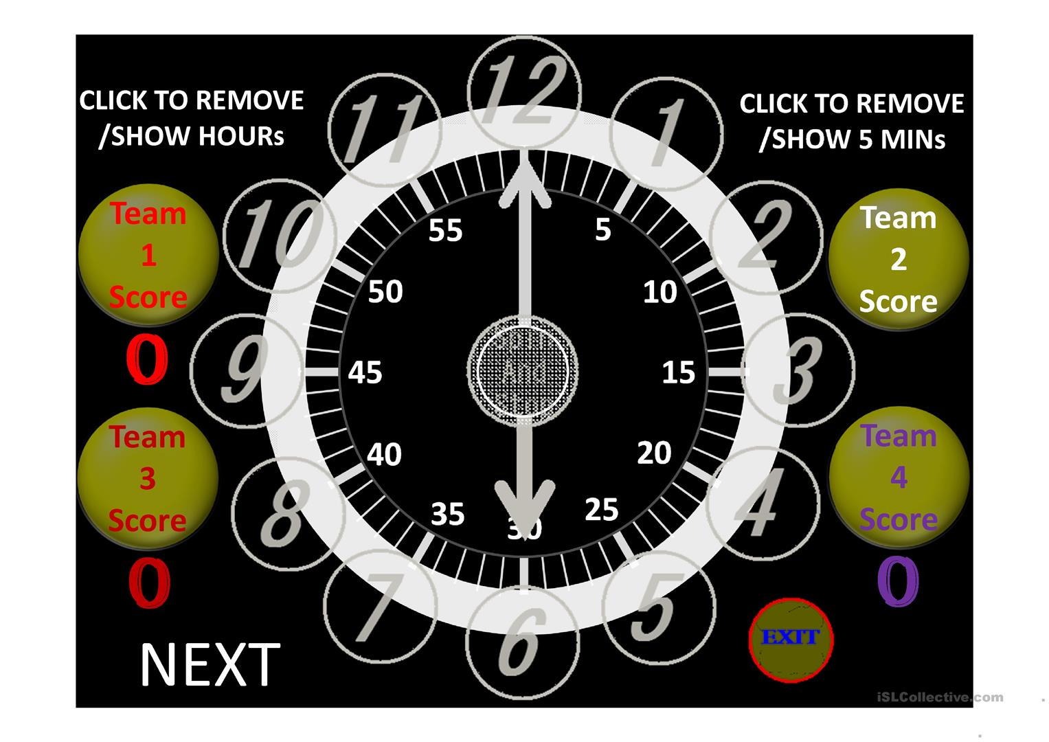Random Clock To Learn The Time Worksheet