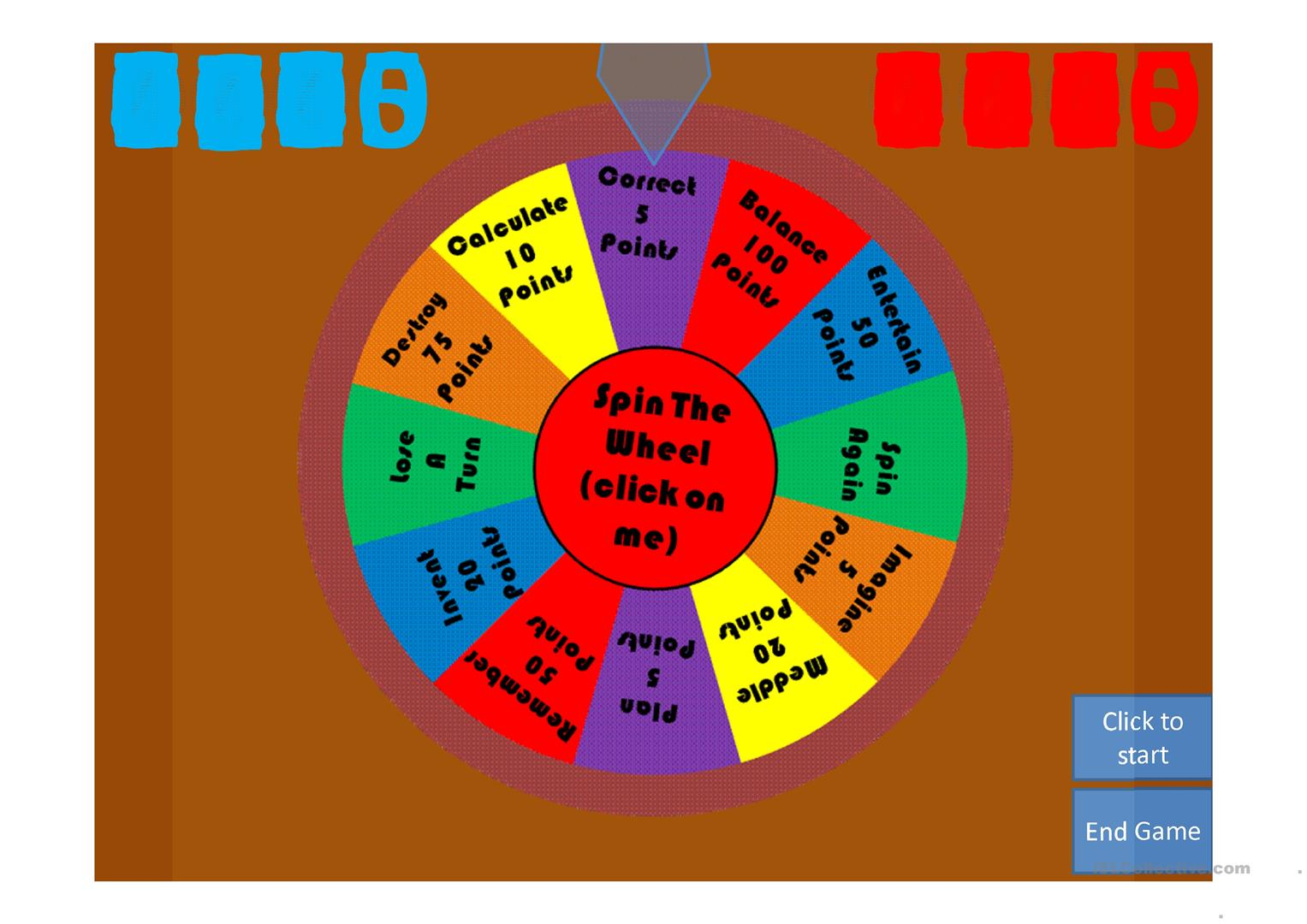 Spin The Wheel 200 Verbs Worksheet