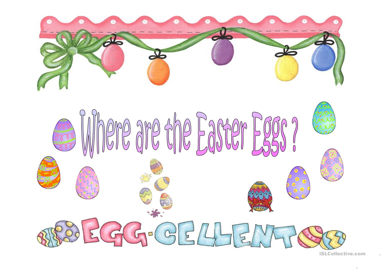 Where Are The Easter Eggs Worksheet