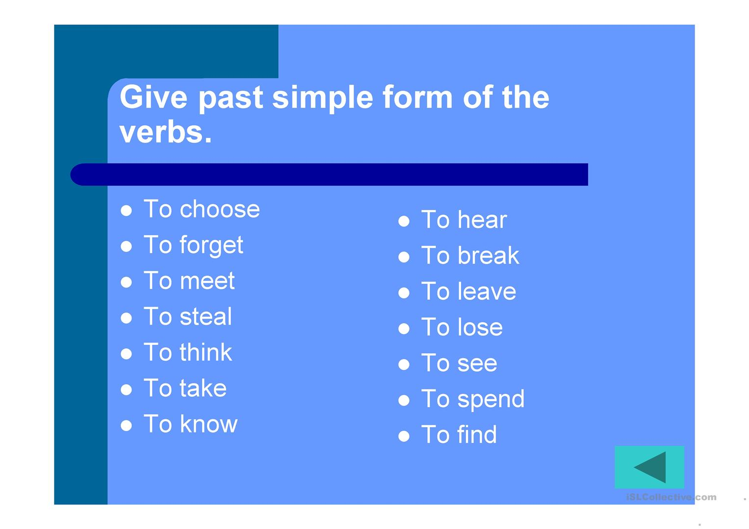 Words Game Elementary Revision Worksheet