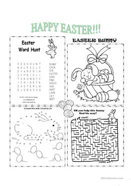 221 FREE ESL Easter worksheets