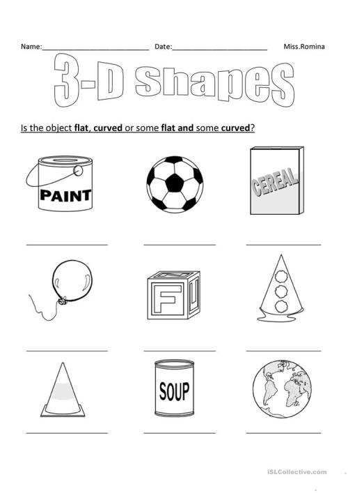 small resolution of 3D shapes - English ESL Worksheets for distance learning and physical  classrooms