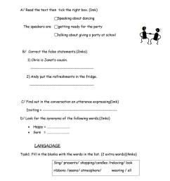 8th grade listening test - English ESL Worksheets for distance learning and  physical classrooms [ 1079 x 763 Pixel ]