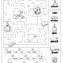 Living Room In Spanish Vocabulary Wall Paints Classroom Objects Worksheet - Free Esl Printable ...