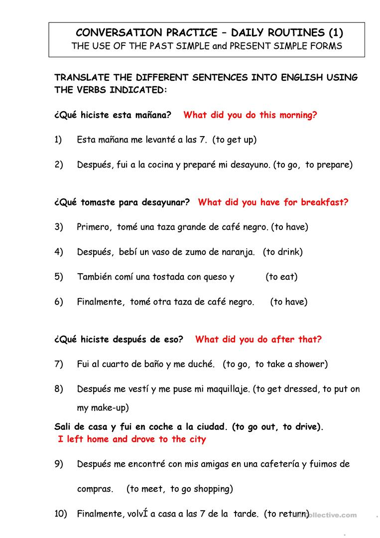 medium resolution of English ESL spanish worksheets - Most downloaded (65 Results)