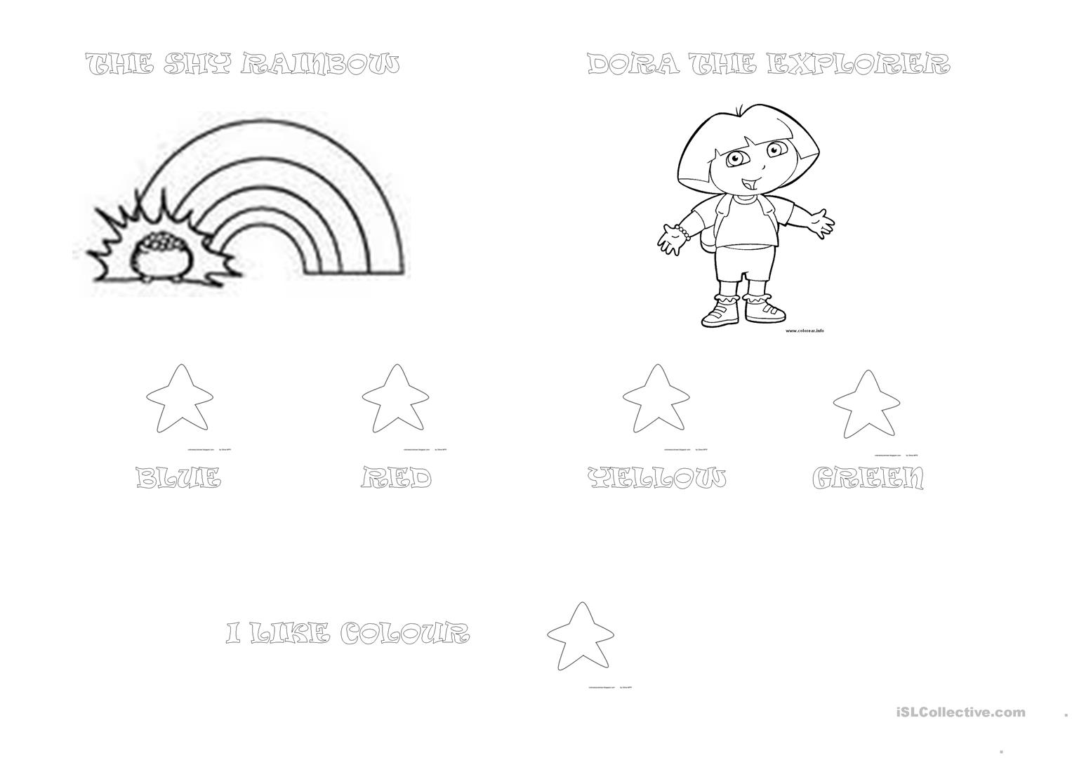 Dora The Explorer Amp The Shy Rainbow Worksheet