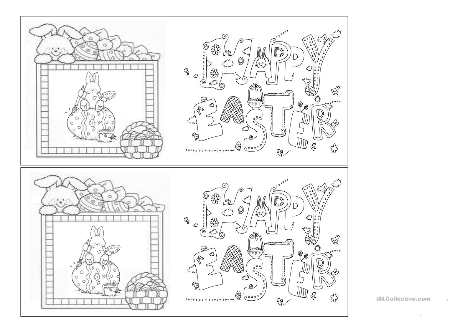 Easter Cards Worksheet