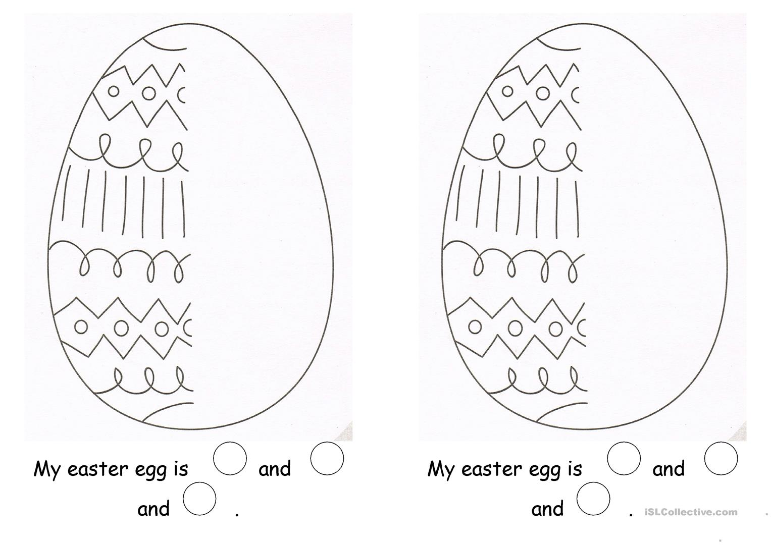 My Easter Egg Worksheet